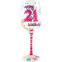 Wine glass for 21 year old girl