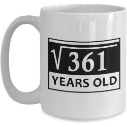 Funny 19th birthday mug