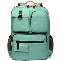 Canvas college backpack